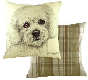 Bichon Frise-Cushion Cover-43 x 43cm