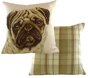 Pug-Cushion Cover-43 x 43cm