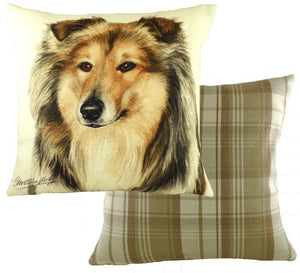 Rough Collie-Cushion Cover-43 x 43cm