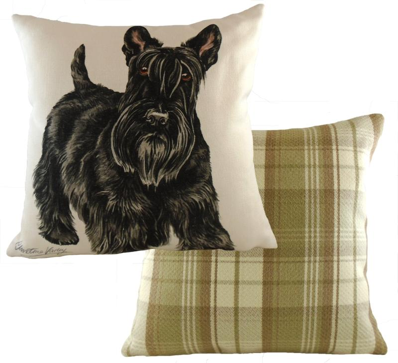 Scottish Terrier-Cushion Cover-43 x 43cm