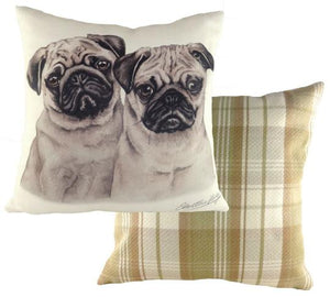 Pug Puppies-Cushion Cover-43 x 43cm