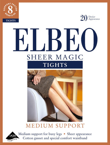 Elbeo-Ladies Medium Support Tights-Sheer Magic-20 Denier