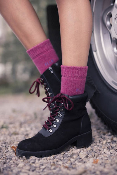 Elle-Wool Mix Brushed Inside Boot Socks-2 Pair Pack