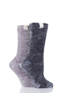 Elle-Chenille Leisure Socks-2 Pair Pack