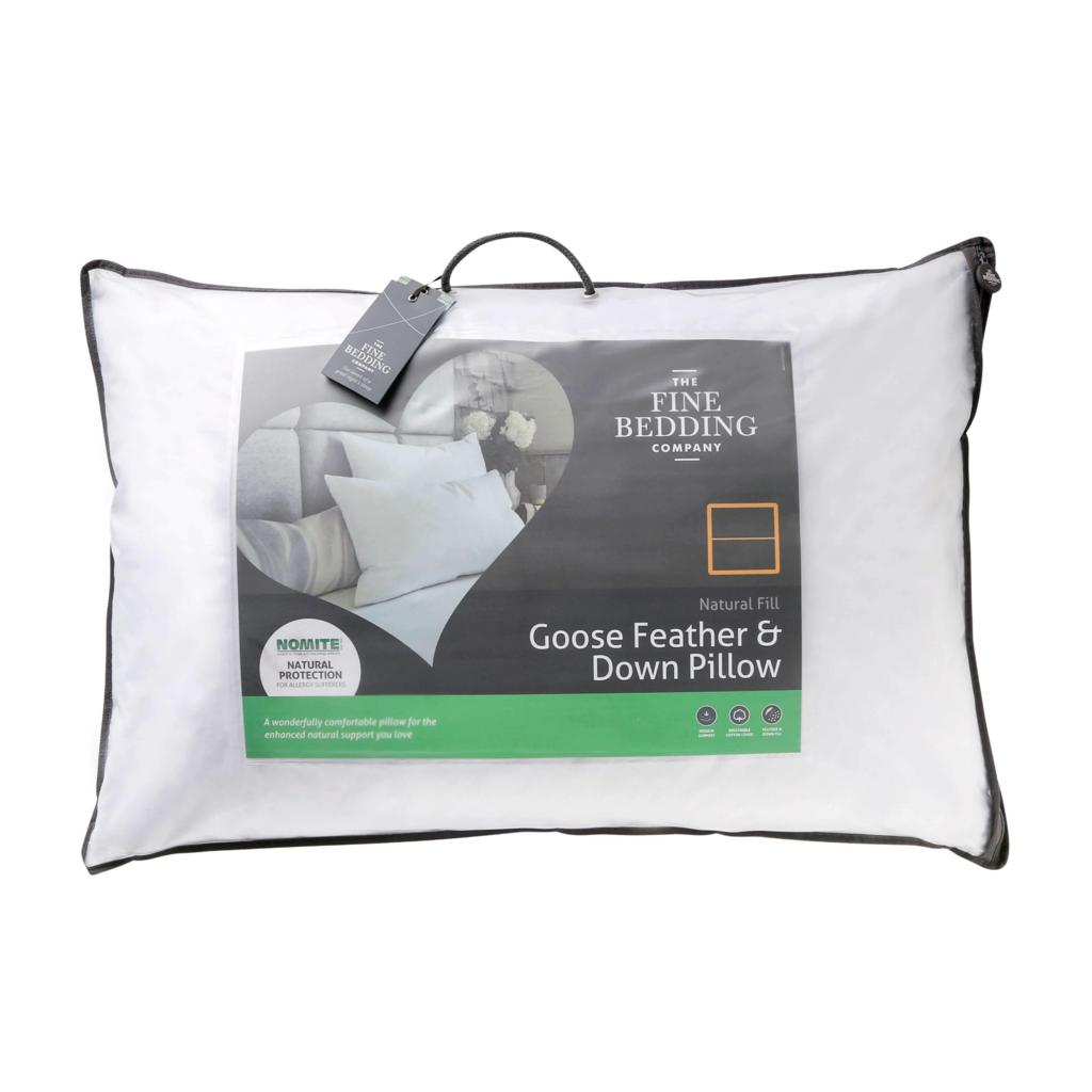 Pillow-Goose Feather and Down-Fine Bedding Company