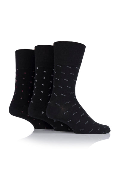 Gentle Grip-Mens-3 Pair Pack-Cotton Rich Socks