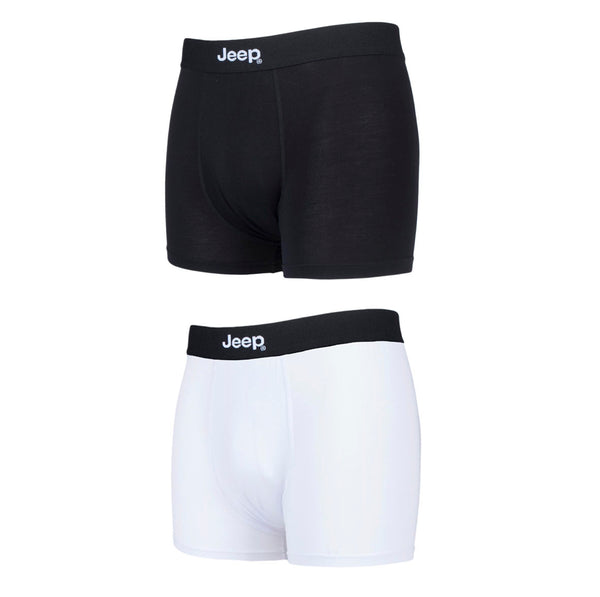 Jeep-Mens Fitted Bamboo Trunks-2 Pair Pack