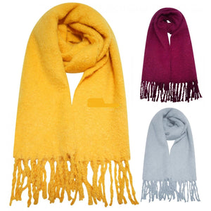 Ladies-Thermal Brushed Blanket Scarves