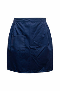 Ladies-Tie Waist Apron-Navy