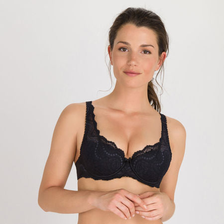 Playtex-Flower Elegance-Padded Bra-Black-P02BF