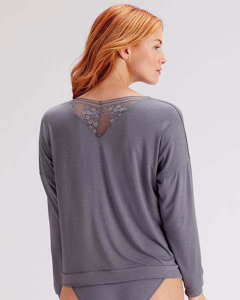Pretty Polly-Loungewear-Slouch Top-Botanical Lace Range