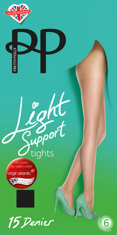 Pretty Polly-Ladies Light Support Tights-15 Denier