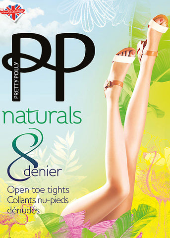 Pretty Polly-Naturals-Ladies Open Toe Tights