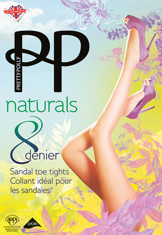 Pretty Polly-Naturals-Ladies Sandal Toe Tights