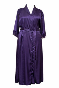Ladies-Purple Satin Robe/Wrap-Full Length