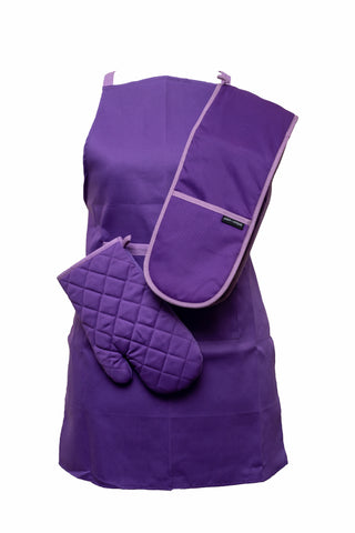 Oven Mitts-Double Glove-Purple