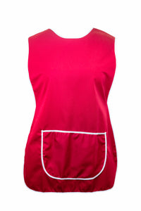 Tabbard-Button Side-Over the Head-Plain-Large Front Pocket-Burgundy