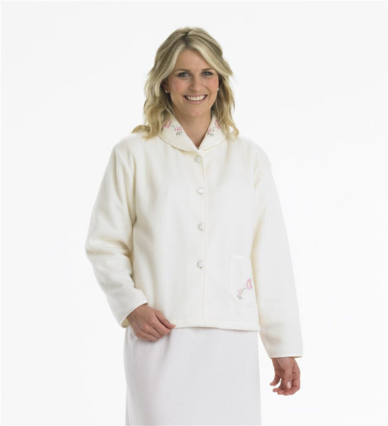 Slenderella Bedjacket-Cosy-Button Front-BJ44601