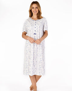 "Slenderella-Ladies 100% Cotton Jersey Nightdress-42"" Length-Short Sleeves-ND4100"