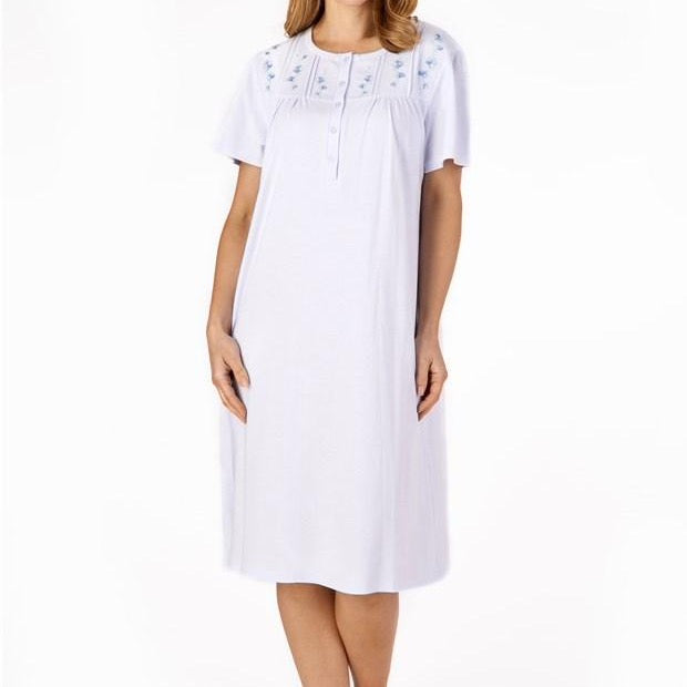 Slenderella-Jersey Nightdress-43''-Short-sleeves-ND4120
