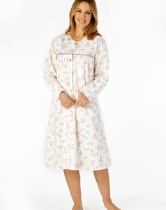 Slenderella-Ladies 100% Luxury Flannel Nightdress-43''Length-ND4210