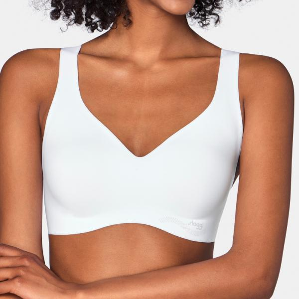 Sloggi-Zero Feel-Non-wired Pull-on Padded Bralette-White