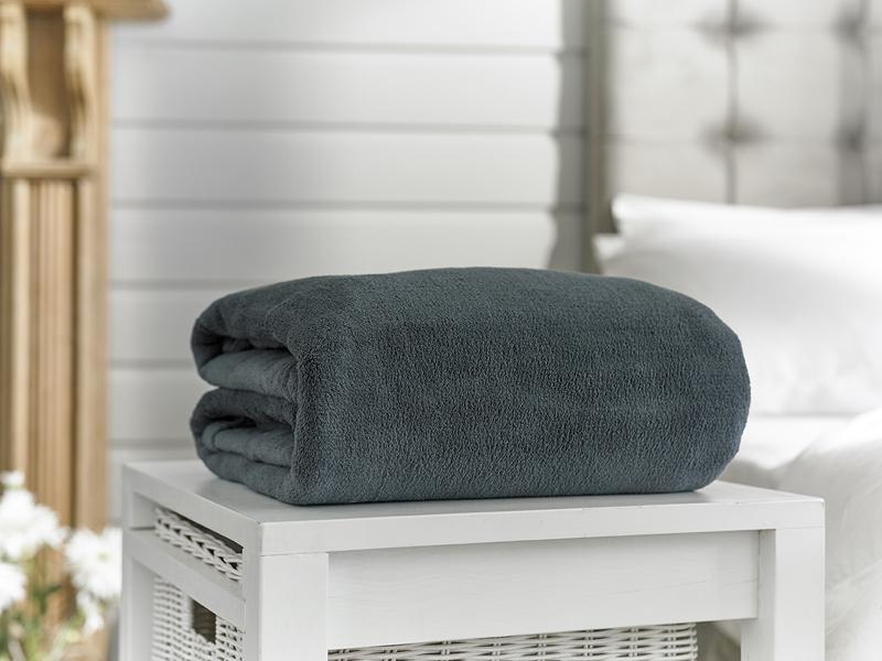 Snuggle Touch-Microfibre Throw-Charcoal