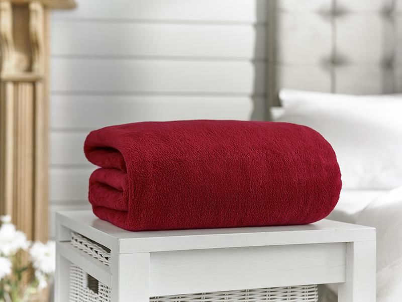 Snuggle Touch-Microfibre Throw-Oxblood