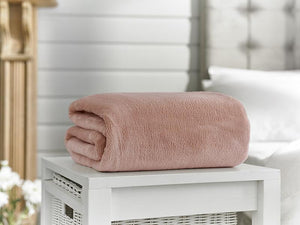 Snuggle Touch-Microfibre Throw-Pink