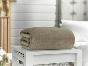 Snuggle Touch-Microfibre Throw-Stone