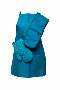Oven Mitts-Double Glove-Lapiz Blue