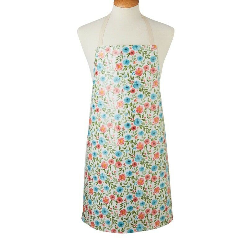 Apron-100% Cotton with PVC Coating-Wipe Clean-Country Floral