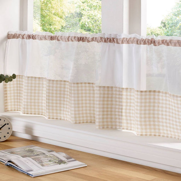 Voile Panel with a Gingham Hem