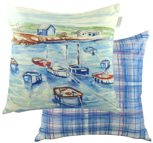 Cushion Cover-Boathouse Design by Jennifer Rose-95% Cotton, 5% Linen