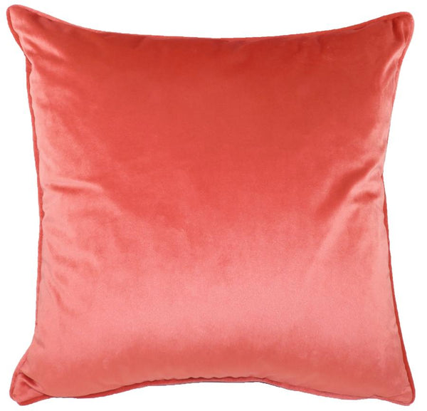 Cushion Cover-Royal Velvet Coral-43cm x 43cm