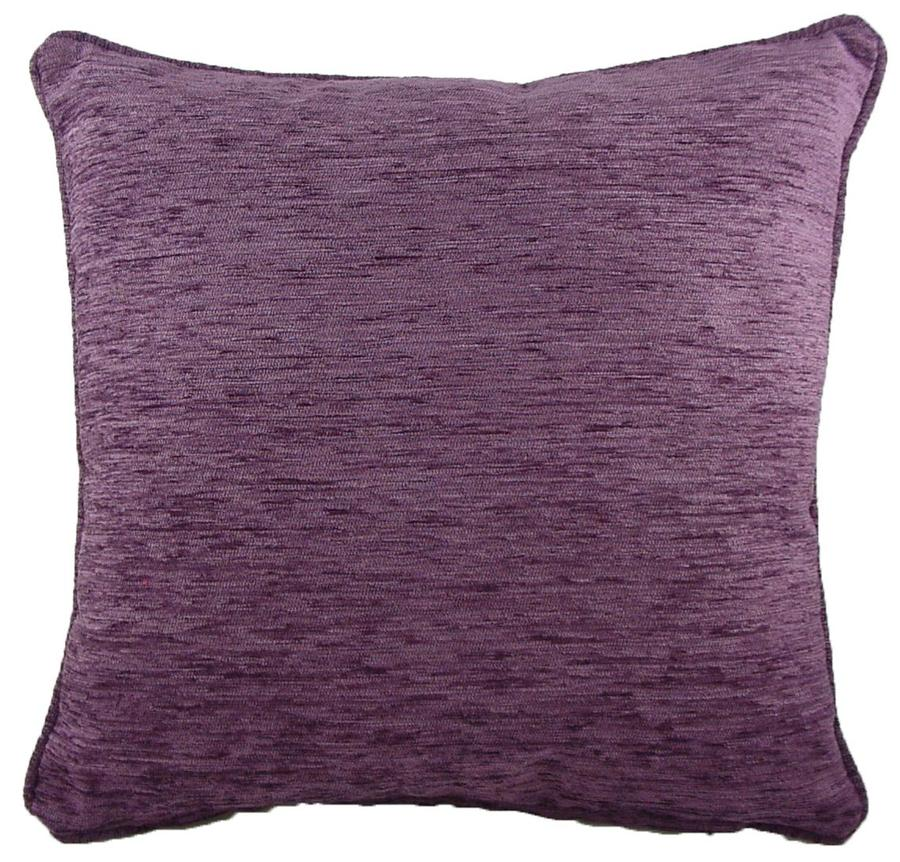 Cushion Covers-Chenille-Savannah Range-43cm x 43cm-Aubergine Colour