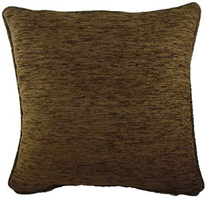 Cushion Covers-Chenille-Savannah Range-43cm x 43cm-Chocolate Colour