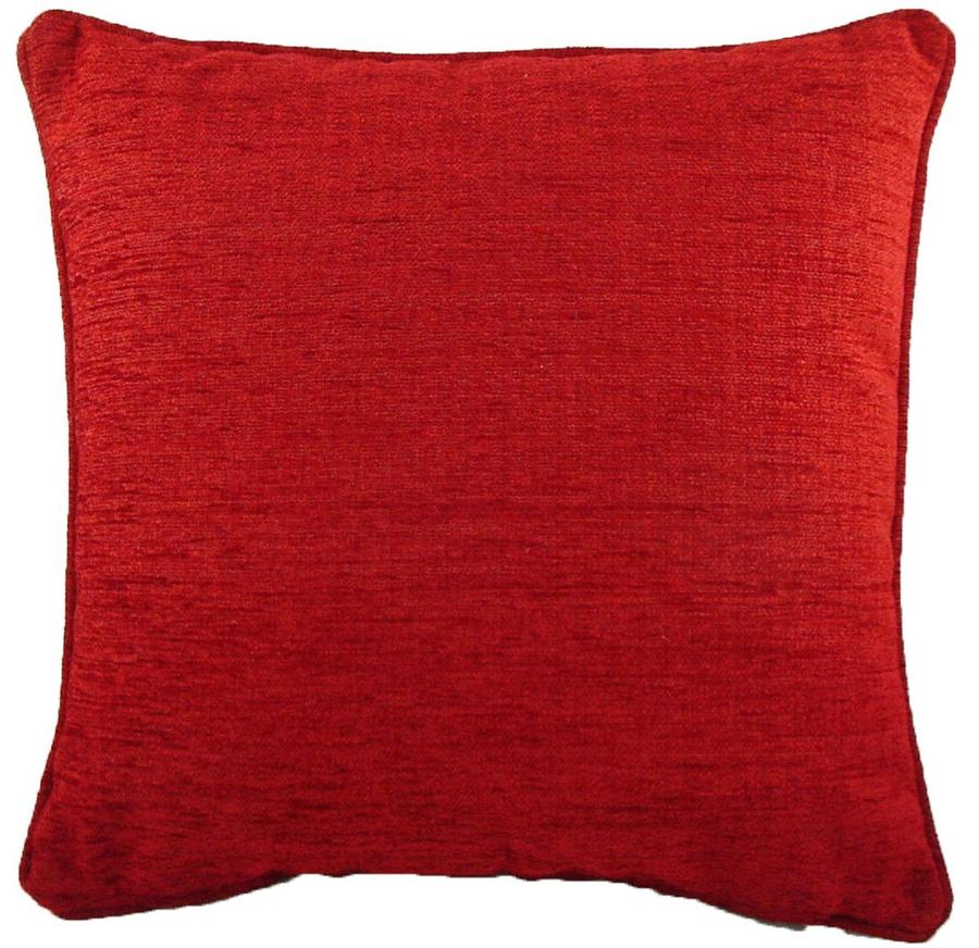 Cushion Covers-Chenille-Savannah Range-43cm x 43cm-Wine Colour