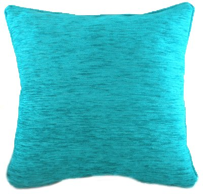Cushion Covers-Chenille-Savannah Range-43cm x 43cm-Turquoise Colour