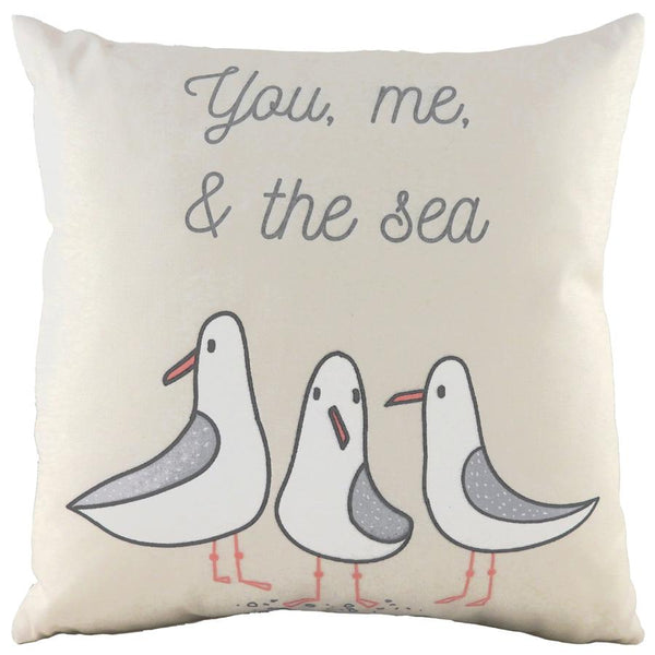 Cushion Cover-Seagull Natural-43cm x 43cm