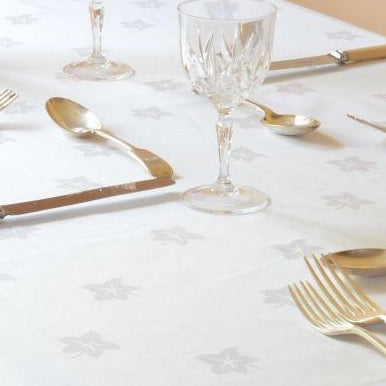 Damask Ivy Leaf-Tablecloths-Napkins-100% Cotton