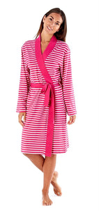 Ladies-Lightweight Dressing Gown/Wrap/Robe-100% Cotton-Size 20-22-LN770