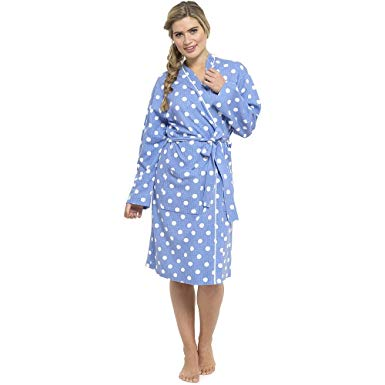Ladies-Dressing Gown-100% Cotton-LN550