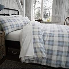 Duvet Cover-100% Brushed Cotton-Montrose in Blue