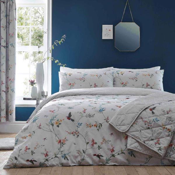 Duvet Cover-Mansfield by Dreams n Drapes-Colour Grey