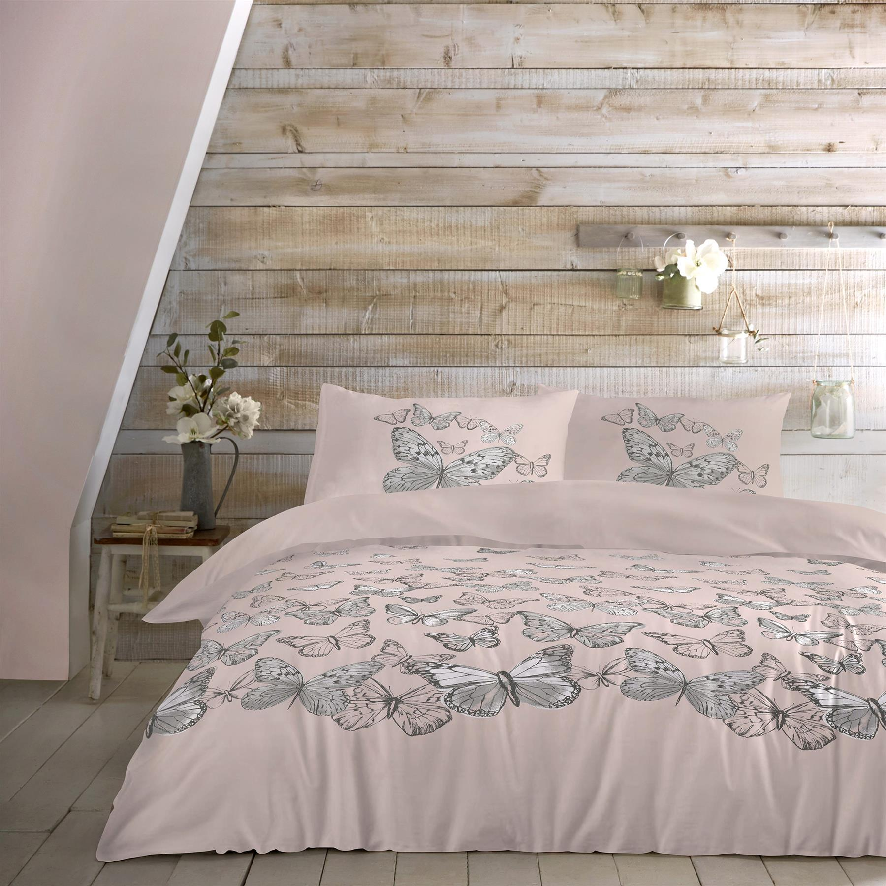 Dreams and Drapes-Mariposa-Duvet Cover in Blush