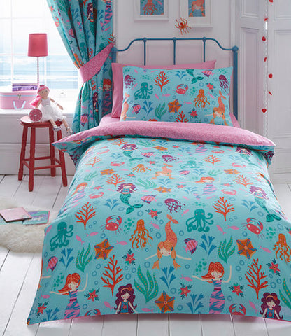 Kids Duvet Cover-Mermaid