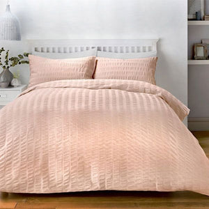 Duvet Cover-Seersucker-Serene-Colour Pink