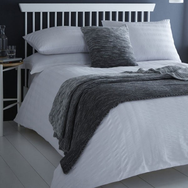 Duvet Cover-Seersucker-Serene-Colour White