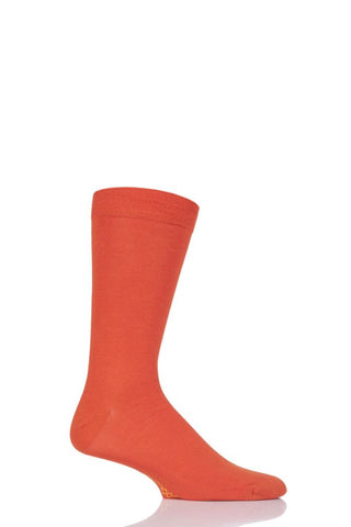 Sockshop-Mens Bamboo Socks-1 Pair Pack-Tangerine Dream